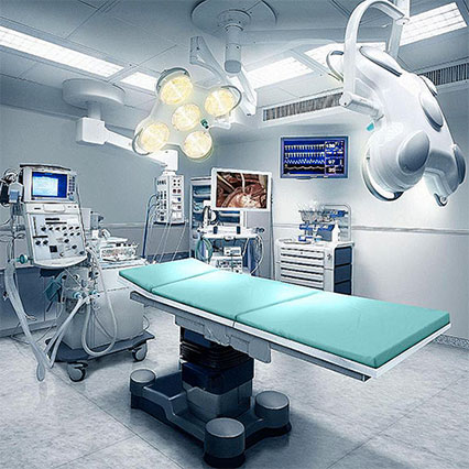 Equipping of hospitals and clinics with modern medical facilities